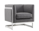 Aiken Arm Chair -  Hannigan Pewter - Rustic Edge