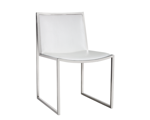 TAVIN DINING CHAIR WHITE SET OF 2