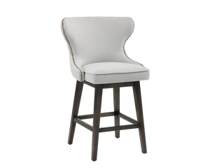 NICKSON SWIVEL COUNTER STOOL LIGHT GREY
