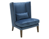 Betty Blue Wing Chair - Ink Blue - Rustic Edge