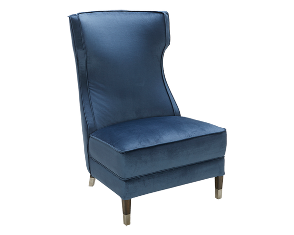 Awesome Dardanus Accent Chair Navy Blue Gmtry Best Dining Table And Chair Ideas Images Gmtryco