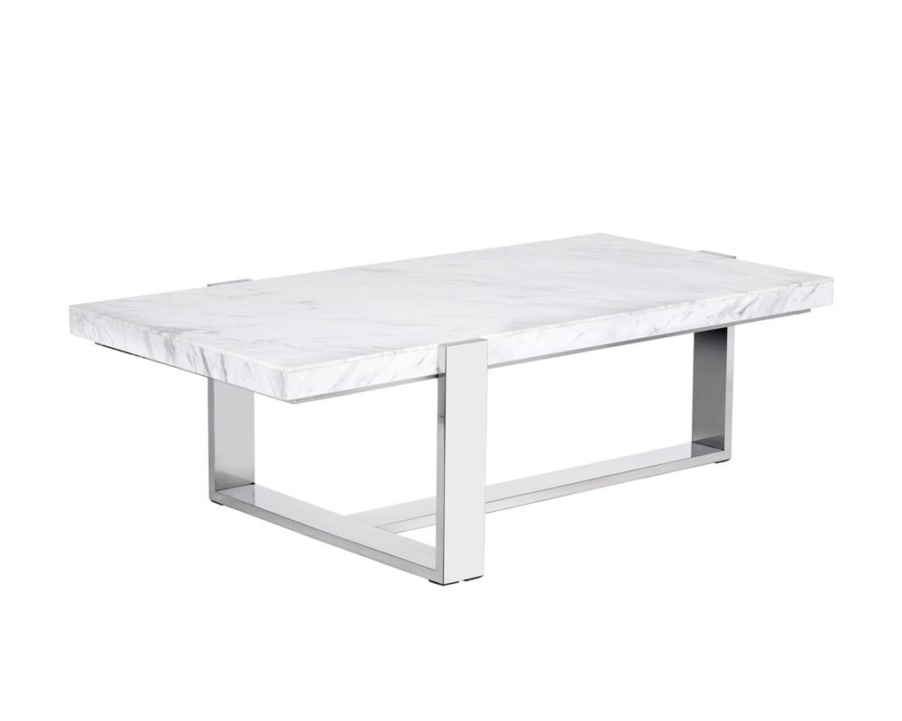 WALFRED RECT COFFEE TABLE - MARBLE - Intrustic home decor