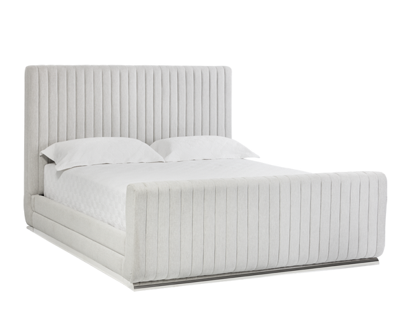 newest 1b328 92f76 Diodore White Tufted Upholstered Platform Bed