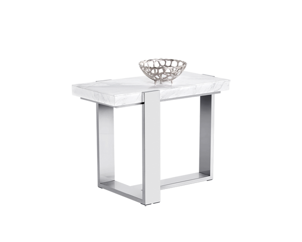 WALFRED END TABLE - MARBLE - Intrustic home decor