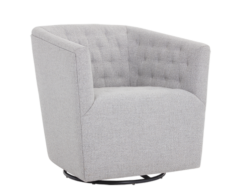 Cambeul Swivel Arm Chair - Marble Fabric - Rustic Edge