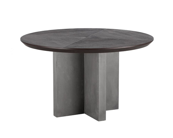 "Repalm 51"" Round Dining Table -Rustic Edge"