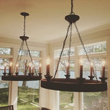 Reclaimed wood Beachhouse Chandelier 9972 - Currey & Co.