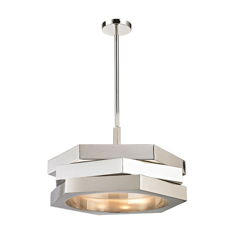 Dimond Home Facet 3 Light Pendant in Polished Nickel - 1411-011