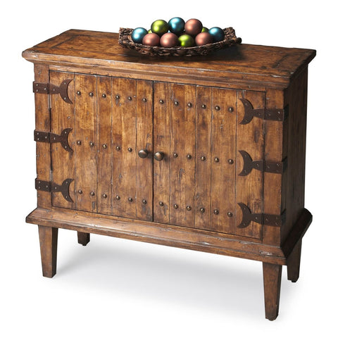 Butler Mountain Lodge Console Bar Cabinet, Rustic 1141120