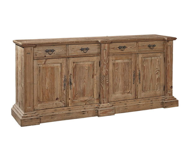 Allegra Recycled 4 Drawer 4 Door Sideboard - Rustic Edge