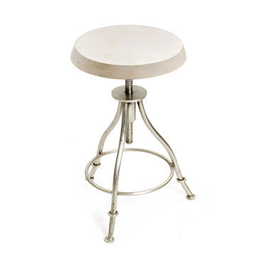 GO Home Polished Nickel Exam Stool 12314