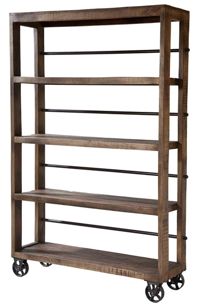 Hayden Rolling Wood Shelving Unit - 12341 - Stein World