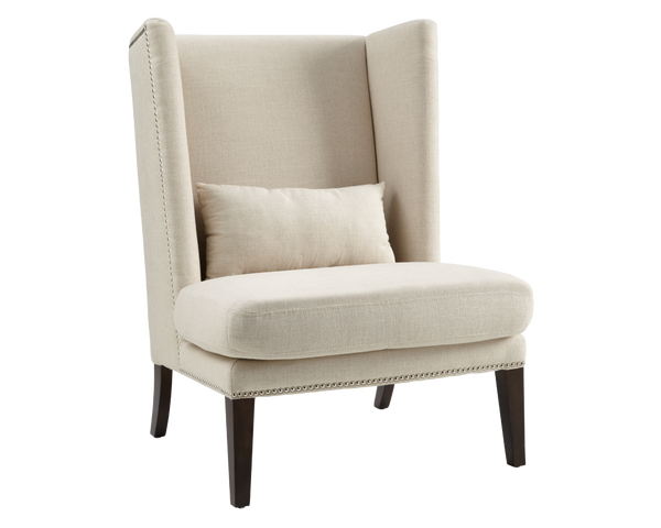 Betty Blue Wing Chair - Linen - Rustic Edge