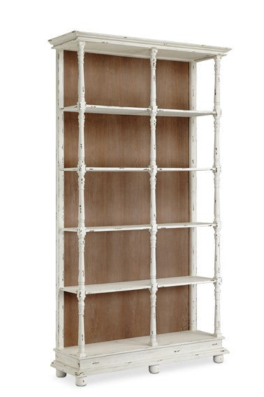 Whitney White 5 Shelf Bookcase - 13589 - Stein World