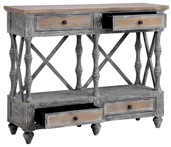 Stein World Four Drawer Console Table 13690