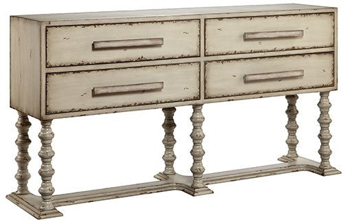 Stein World Antique Cream Console Table Mixy 13727