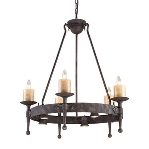Elk Group Cambridge 10- Light Chandelier in Moonlit Rust 14005/5+5