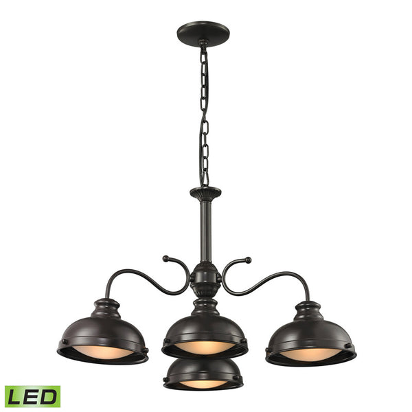 Elk Group Henninger Collection 4 light chandelier in Oil Rubbed Bronze 14209/4-LED