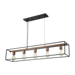 Elk Group Rigby 5 Light Chandelier In Oil Rubbed Bronze & Tarnished Brass 14463/5