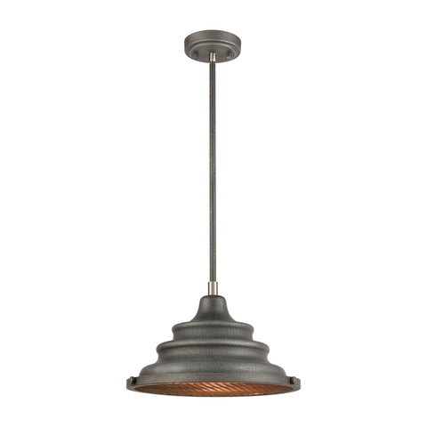 Boni-ale Collection Industrial Farmhouse Metal Shade Pendant