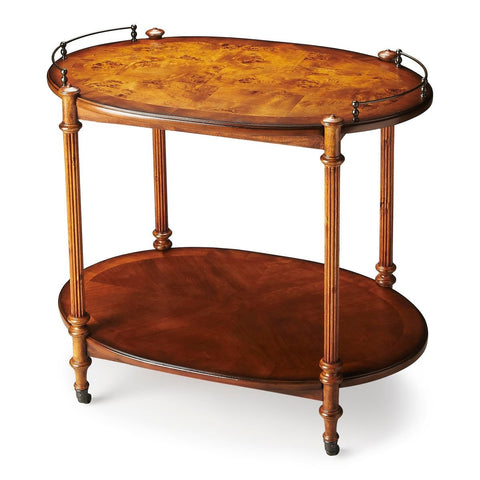 Butler Plantation Kathleen Olive Ash Burl Bar Cart/Tea Server 1690101
