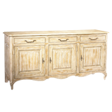 French Heritage Chambery 3 Door Buffet M-2121-002-GLDD-WOODTOP - Rustic Edge