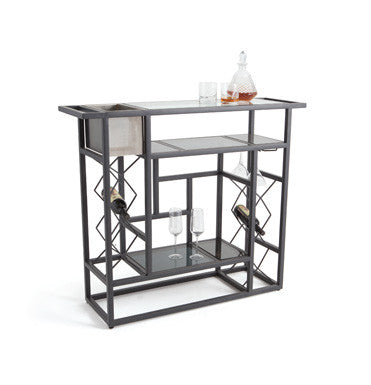 Go Home Iron and Glass Cocktail Counter 20643