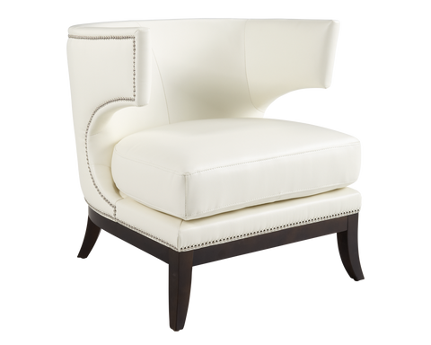 PEYTON CHAIR WHITE LEATHER