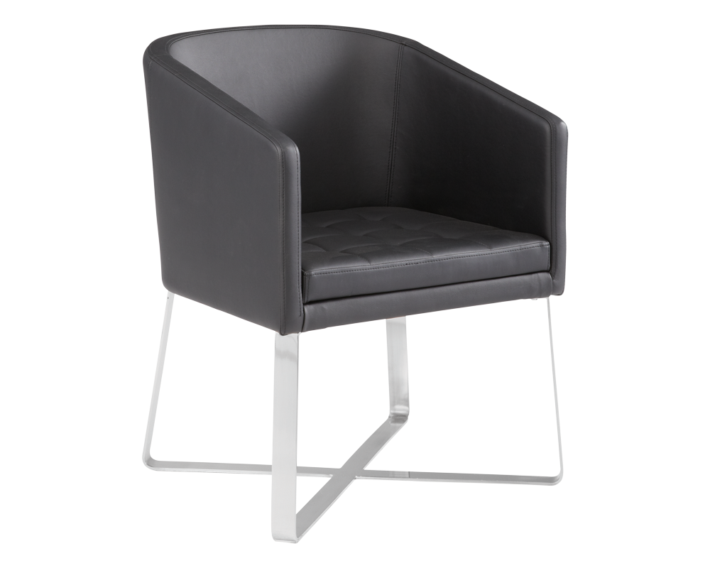Allis Barrel Armchair - Black - Rustic Edge