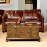 Alik Trunk Coffee Table - Rustic Edge