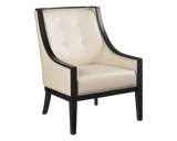 Argenta Arm Chair - Cream Leather - Rustic Edge