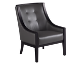 Agenta Arm Chair - Grey Leather - Rustic Edge