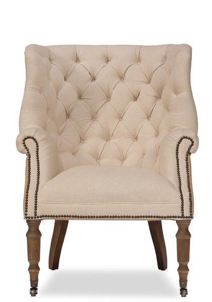 Windsor Linen And Jute Chair - Intrustic home decor
