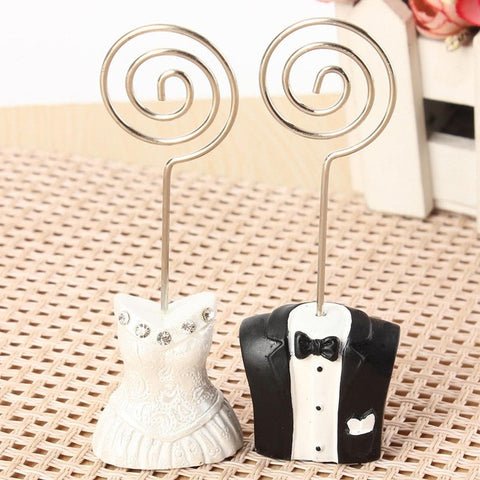 Bride & Groom Place Card Holders (1 set) Wedding