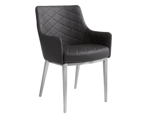 Seacha Dining Chair  - Black - Set of 2 - Rustic Edge