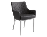 BRYSTON ARMCHAIR BLACK SET OF TWO - Rustic Edge