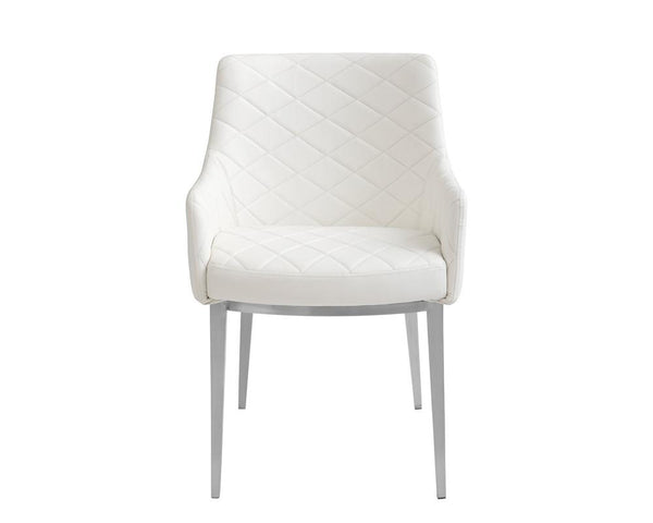 BRYSTON ARMCHAIR WHITE SET OF TWO - Rustic Edge