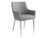 BRYSTON ARMCHAIR GREY SET OF TWO - Rustic Edge