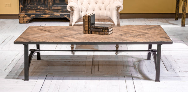 Laramie Reclaimed Parquet Coffee Table