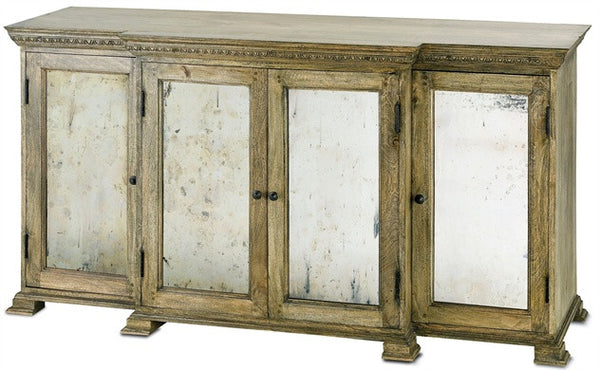 "Ellis Buffet Antique Mirrored Doors 4 Doors 67"" Wide 3092"