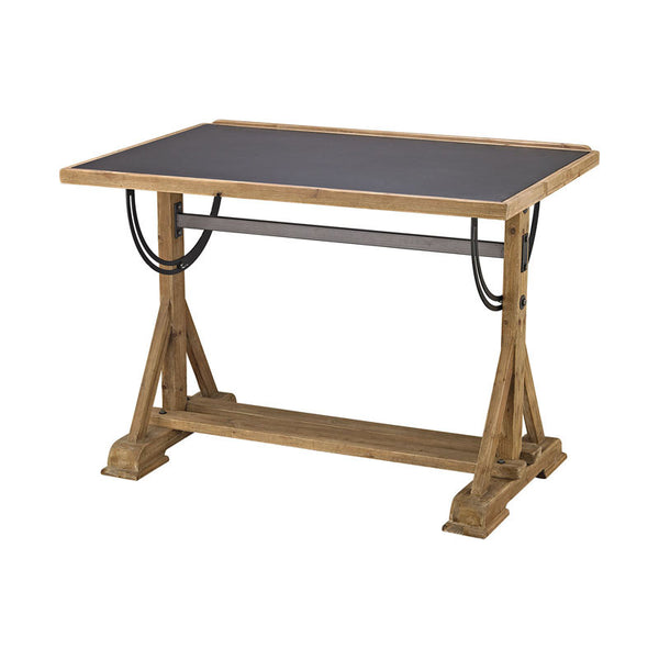 Guild Master 3187-009 Wood & Metal Collegio Desk