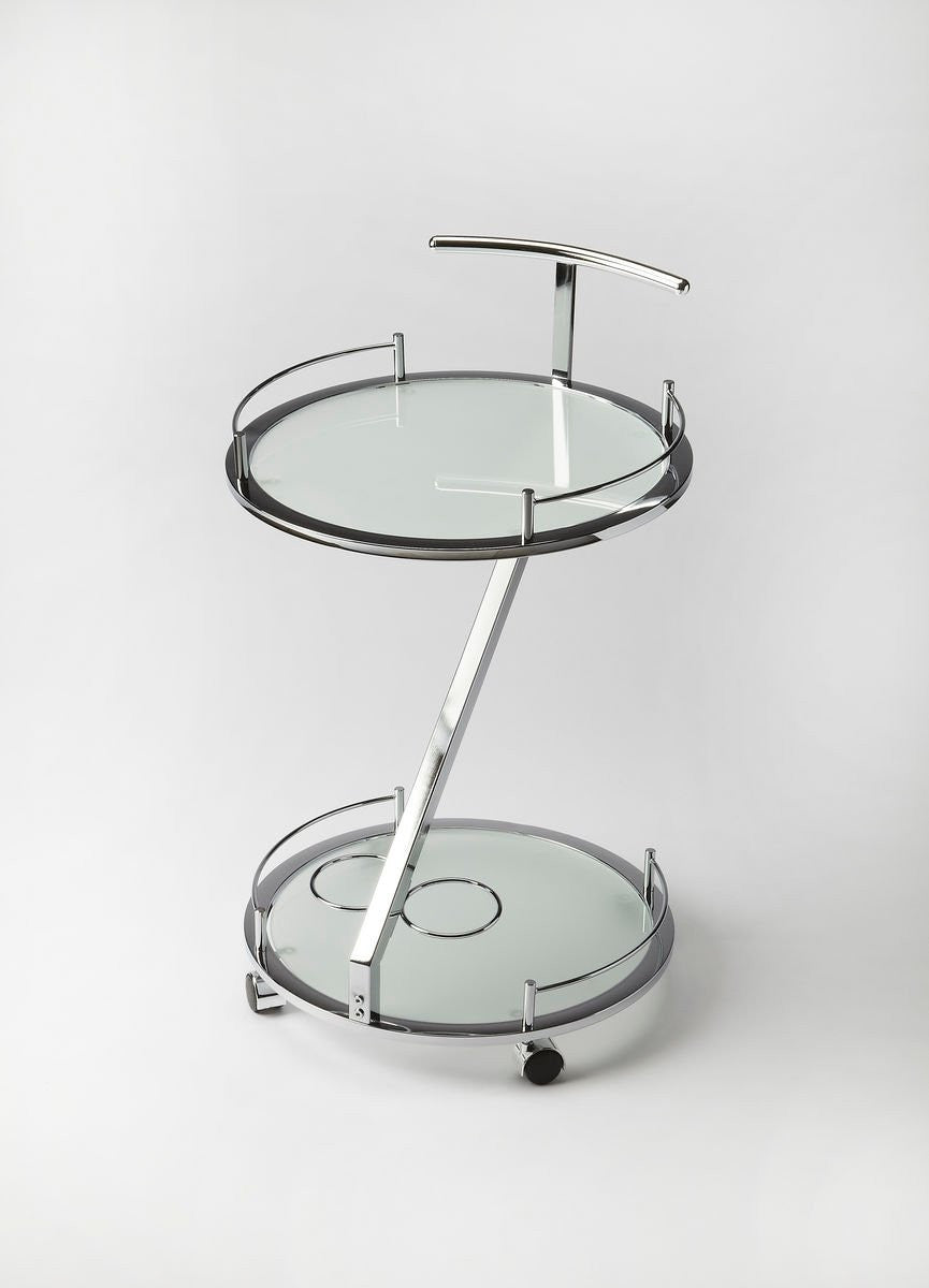 Butler Gigi Modern Frosted Glass Serving Cart 3295307 - Rustic Edge