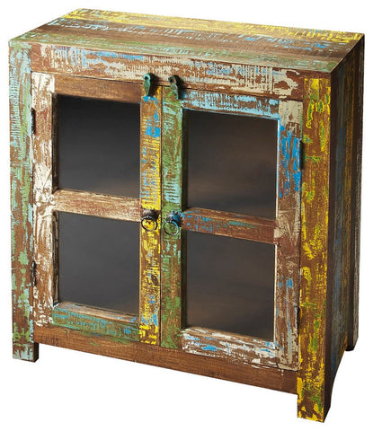 Butler Haveli Reclaimed Wood Display Bar Cabinet/Sideboard 3381290