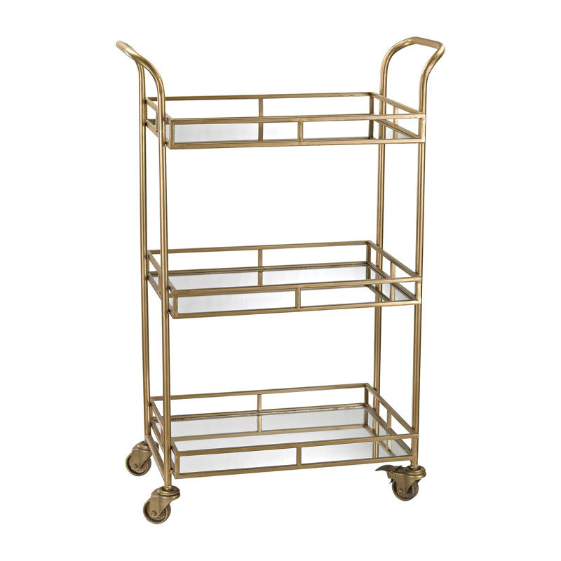 Julep Signature Gold & Mirror Bar Cart