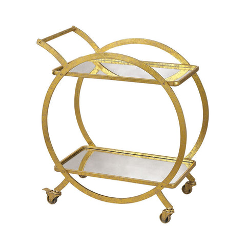 Sterling 351-10212 Signature Gold & Antique Mirror Cart