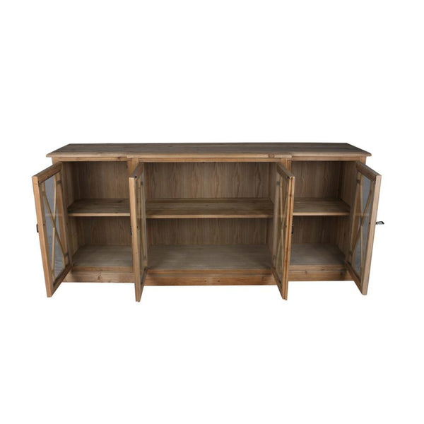 Perle 4 Door Sideboard Natural - Intrustic home decor