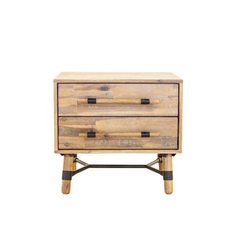 Janine 2 Drawer Nightstand - Intrustic home decor