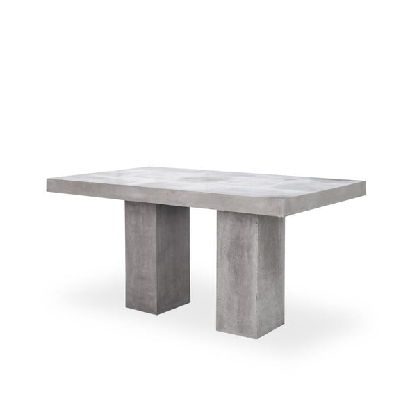 Sinato Outdoor Concrete Table - Rustic Edge
