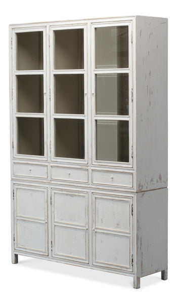 "Chantell Reclaimed Pine 60"" Bookcase - Whitewash"