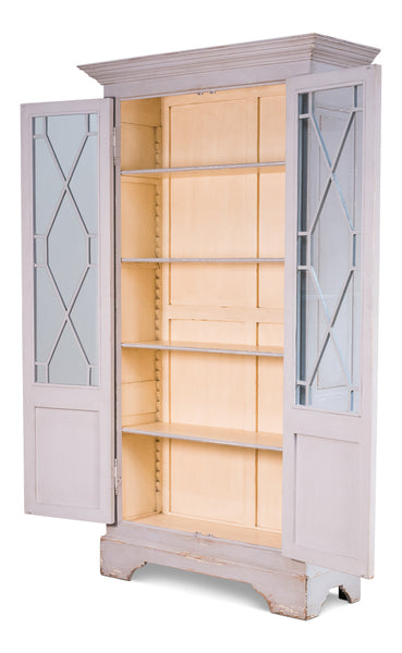 "Ruth-Elm Traditional Style 55"" Bookcase - Grey"